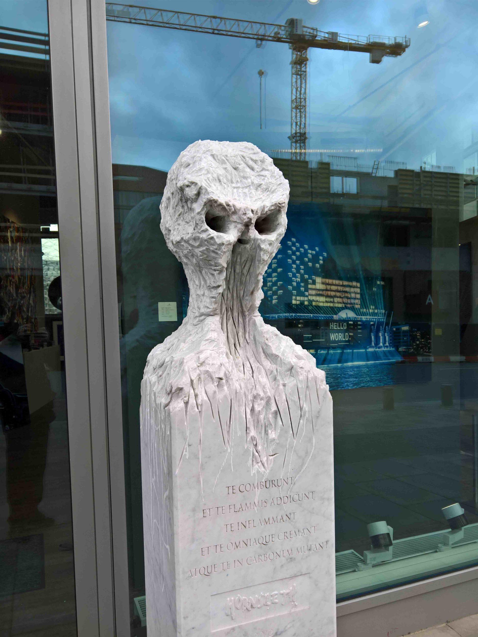 Marble Skull, by the Danish conceptual artist Kristian von Hornsleth