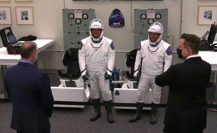 Crew Dragon Demo 2 Jim Bridenstine Douglas Hurley Robert Behnken Elon Musk