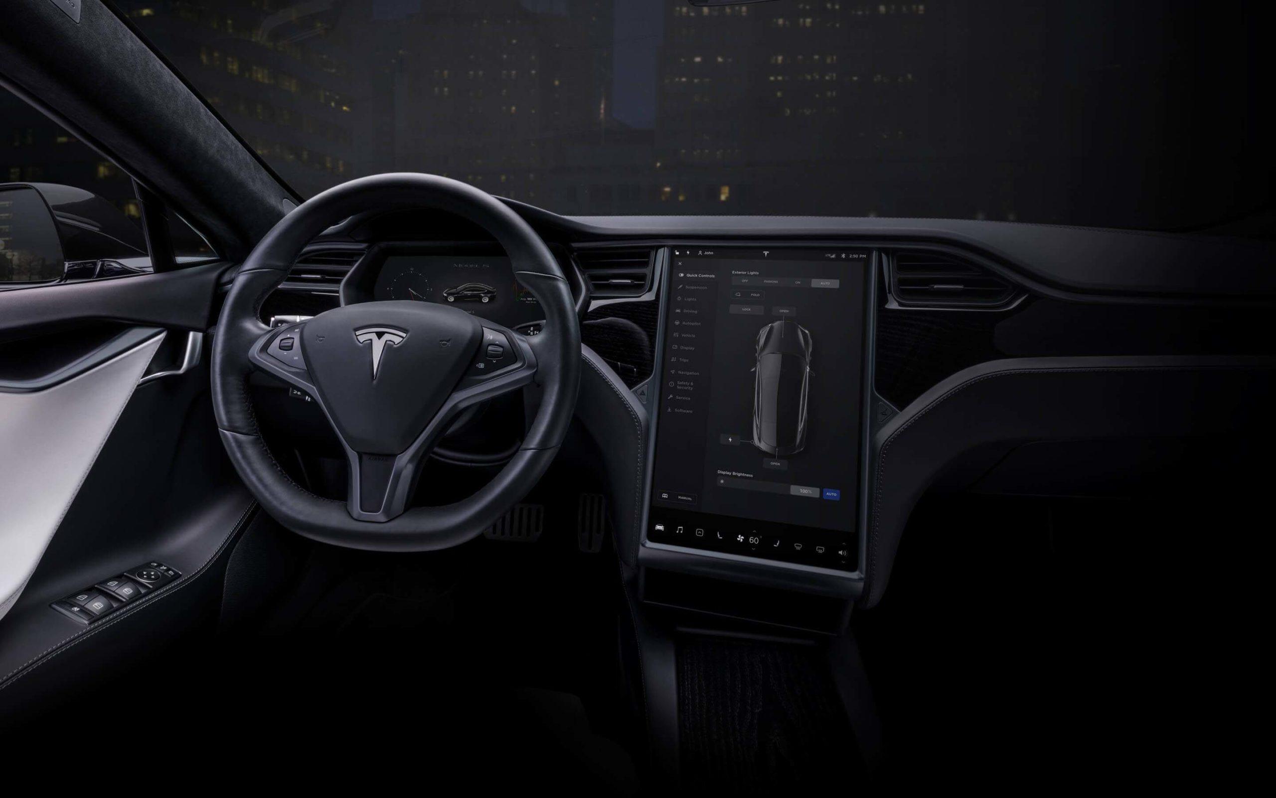 2020 Model S interior