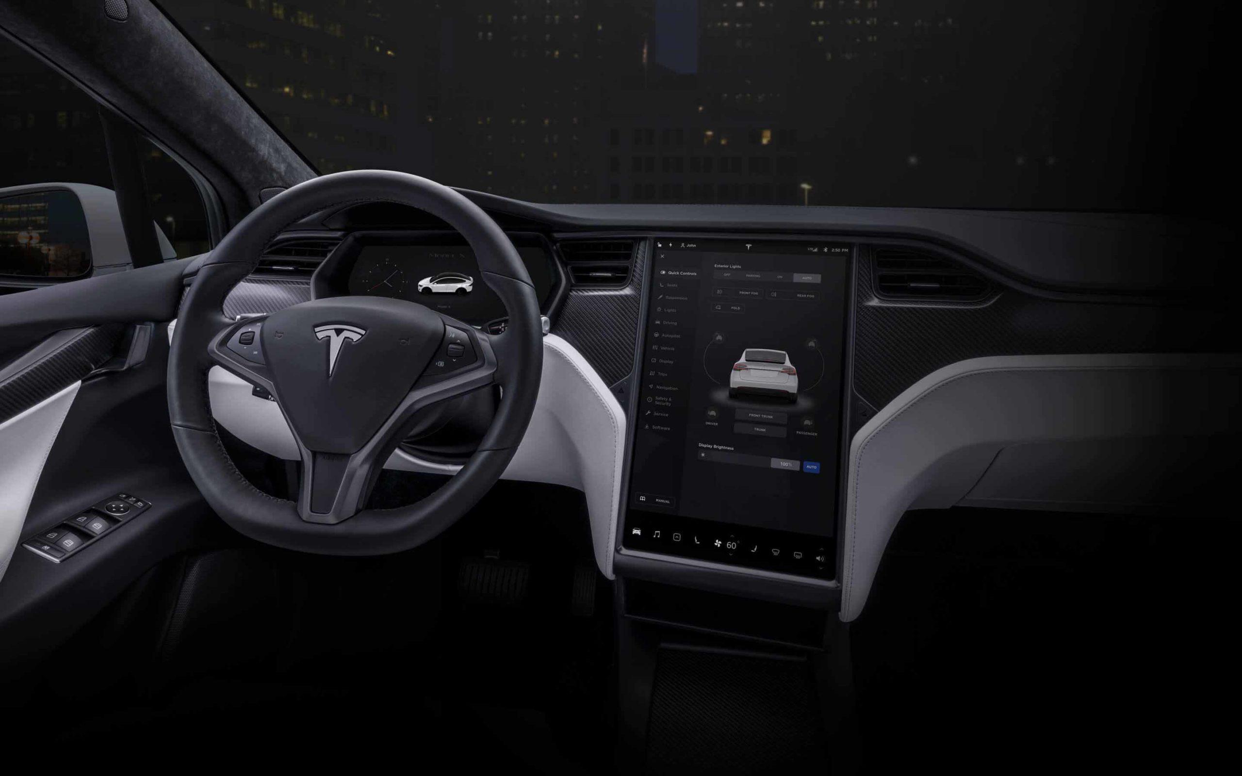 2020 Tesla Model X interior