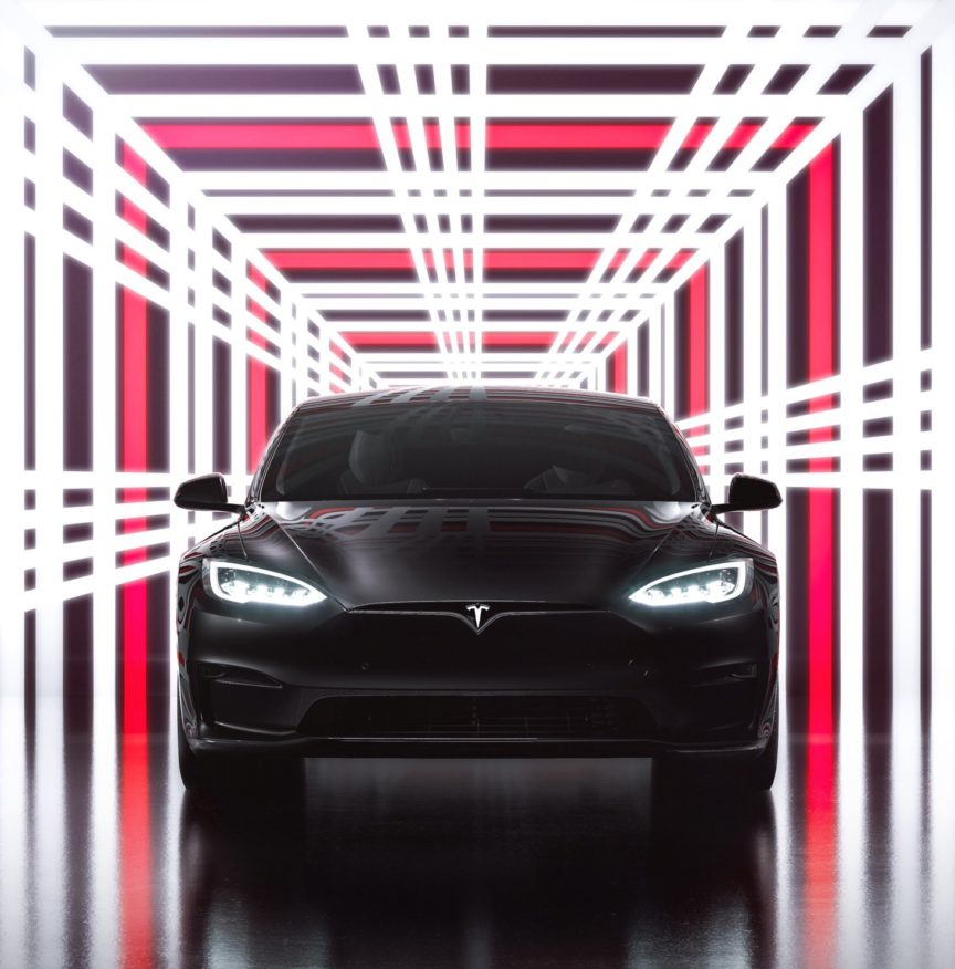 Tesla Model S Plaid event badge